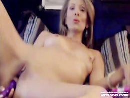 Sexy blonde milf Erotic fingering her sweet ass