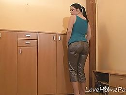Since her hubby left for work, how could she not use this opportunity for something naughty? Th...