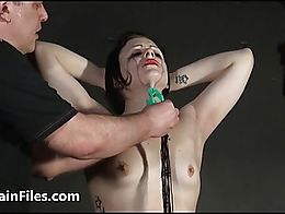 Slave amateur Isabel Deans bdsm to tears and masochist humiliation training of chubby submissiv...