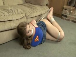 Crytal the Babbysitter gets hogtied toe-tied