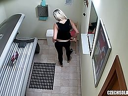 Here is the first hidden camera in solarium!! You haven´t seen this before! We breached into t...
