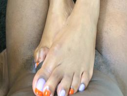 Captain Hook Grape Orange Candy Painted Toes Footjob