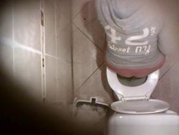 Hidden camera over the toilet catches women seating, peeing and cleaning their wet vaginas befo...
