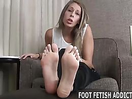 I am your goddess and I need my feet worshiped every day. From now on you are my personal foot ...