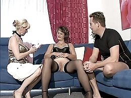 a mature slut tests a sextoys, sucks, swallows then is sodomized doggy-style. It finishes by an...
