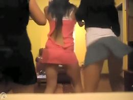 Three lovely friends with fantastic asses spend their webcam show twerking them around for your...
