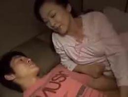 Sweet Mother Teaching Son