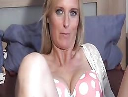 Blonde MILF rides cowgirl and reverse in this homemade