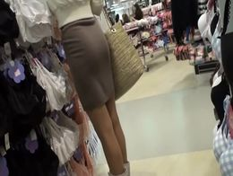 I caught this hot dark haired lady in undergarments section of a big clothing store and I immed...