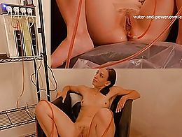 Elise helps me out testing my new automatic enema pump.