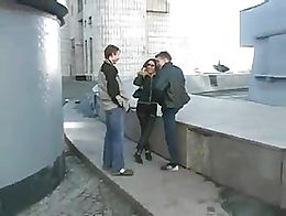 Young couple fuck whith stranger