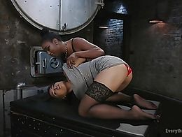 Both girls are taken to the enema room for final clean up so they can be sent back home to thei...