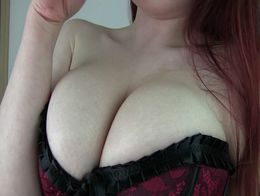 Crushed in Goddess' cleavage