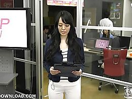 Busty asian teasing her mates in the office