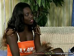 Sexy black African babe knows how to avoid paying the rent. She seduce her householder every mo...