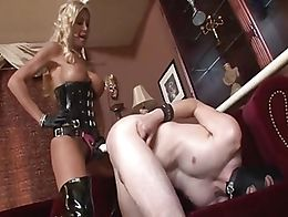 A Stunning Blonde Mistress Strap-on Fucks Her Lucky Sub Hard And Deep x
