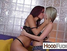 interracial action with 2 sexy and black cock hungry MILF babes that need this big black cock s...