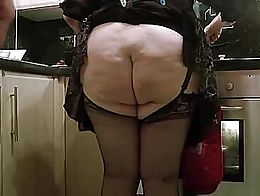 I often make my pretty wife cook with her skirt pinned up, and no knickers. She soon forgets he...