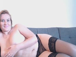 Babe with huge natural tits teased her fans live on cam She strips off her clothes and starts t...