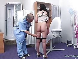 22 years old, black haired girl visits her gynecologist. Complete body check-up with great deta...