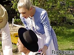 The best way to fuck an Amish girl? In her ass...because that means she's still a virgin. Right...