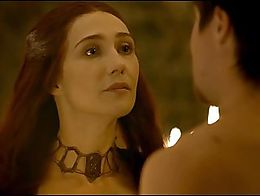 Carice van Houten exposes her beautiful body in a hot sex scene. She takes off her clothes and ...