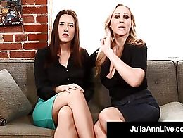 Multiple Award Winning Milf Julia Ann & Brunette Guest Kimberly Kane make their viewers sub...