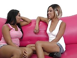 WANKZ- Monique Symone and Verta just two lovely chocolate babes Verta sits on her face and reve...