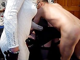 After Mistress Shelly had warmed up on my ass (ouch!) she dished out some more to young Anna. B...