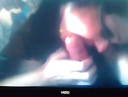 Had to record off my tv but it is a home video of ex girlfriend sucking may big cock when I was...