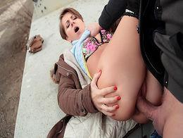 Sasha Zima in Euro Cutie Banged Outdoors - PublicPickups