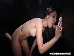 Gloryhole Secrets Maryjane sucking off strangers 1