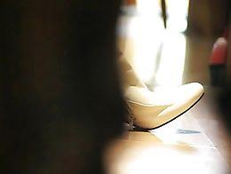 a de-heeled rich leather bootie under my old Graceland Stilettoboots :)