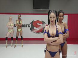 Lesbian Tag Team Wrestling 66