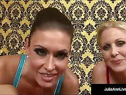 World Famous Milf Julia Ann & Super Star Jessica Jaymes Suck a Cock until they get a Mega Hot L...
