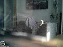 Thanks to the spy camera pointed at our living room you can see my cognate pull the blanket ove...