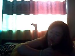 Naughty Chinese girl masturbating on webcam