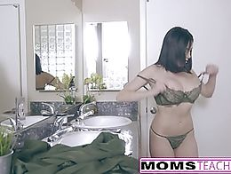 Sneaking up on his hot mom Jaclyn and he cant resist but to stick it in and its not long till h...