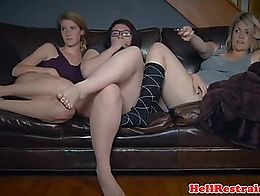 Young group fo subs enslaved and humiliated by doms