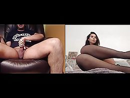 Larissa controls my cock and uses her sexy feet to make me cum.