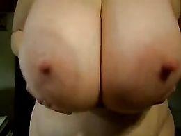 Funbags sexy huge saggy round bongo boobs big nipples - [2-10-16-4724]
