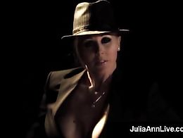 Lovely American Milf Julia Ann Gets on Stage and smokes A Cigarette but then takes a big Dick I...