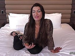 Enjoy the rest of her full video and many more Hot Amateur Milfs at MOMPOV