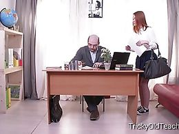 This tricky teacher knows how to take full advantage of confused female students. He promises t...