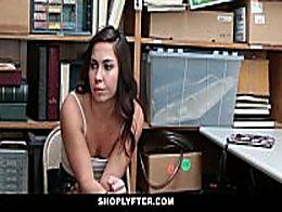 Shoplyfter - Shoplifting teen gets caught fucke