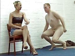 Slave cleans Heels
