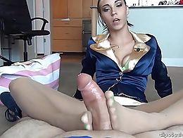 footjob in nude pantyhose