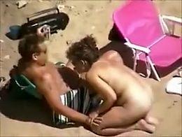 Caught at a nudist beach