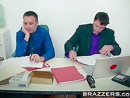 Brazzers - Big Tits at Work - A Case of the Moan Days scene starring Brooklyn Chase and Keiran ...