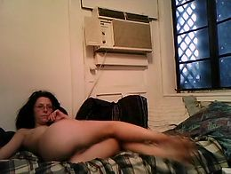 Beautiful White Dreadlock Rasta Girl Strips For The Camera And Rubs On Her Hairy Pussy.